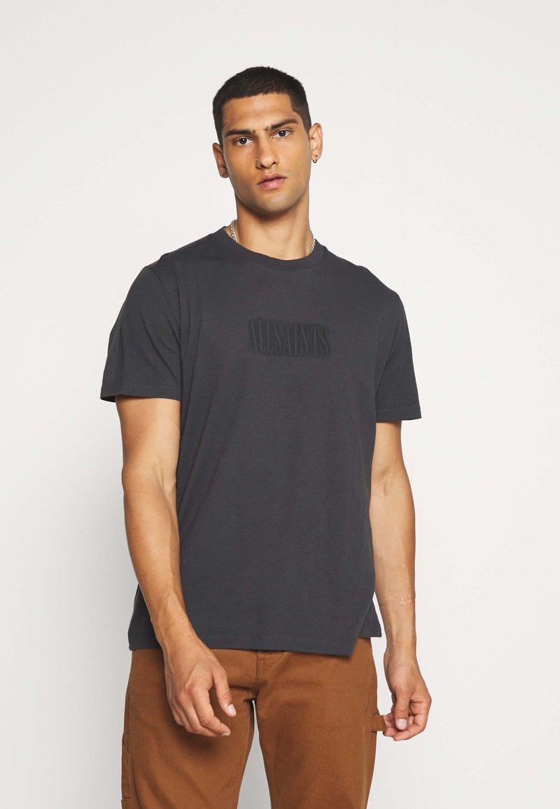 AllSaints - HIGHWAY CREW - Print T-shirt - washed black/jet black