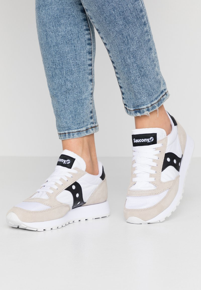 Saucony - JAZZ VINTAGE - Trainers - white/black