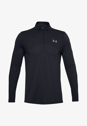 SEAMLESS 1/2 ZIP - Langærmede T-shirts - black