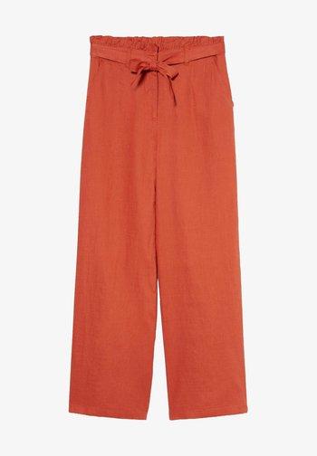 Spodnie materiałowe - dark orange