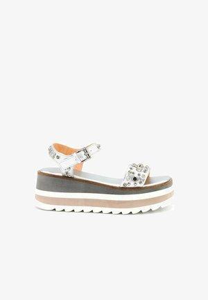 DANNA - Wedge sandals - silver