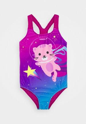 DIGITAL PLACEMENT APPLIQUE SWIMSUIT - Swimsuit - diva/azelea pink /pool/citron