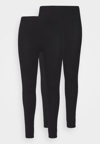 New Look Curves - 2 PACK - Leggings - Trousers - black - 3