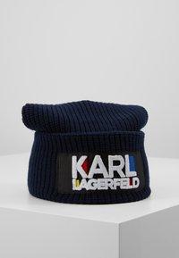 KARL LAGERFELD - KARL BAUHAUS BEANIE - Czapka - navy - 0