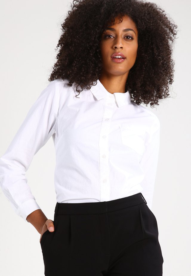 HOLLY  - Button-down blouse - optical white
