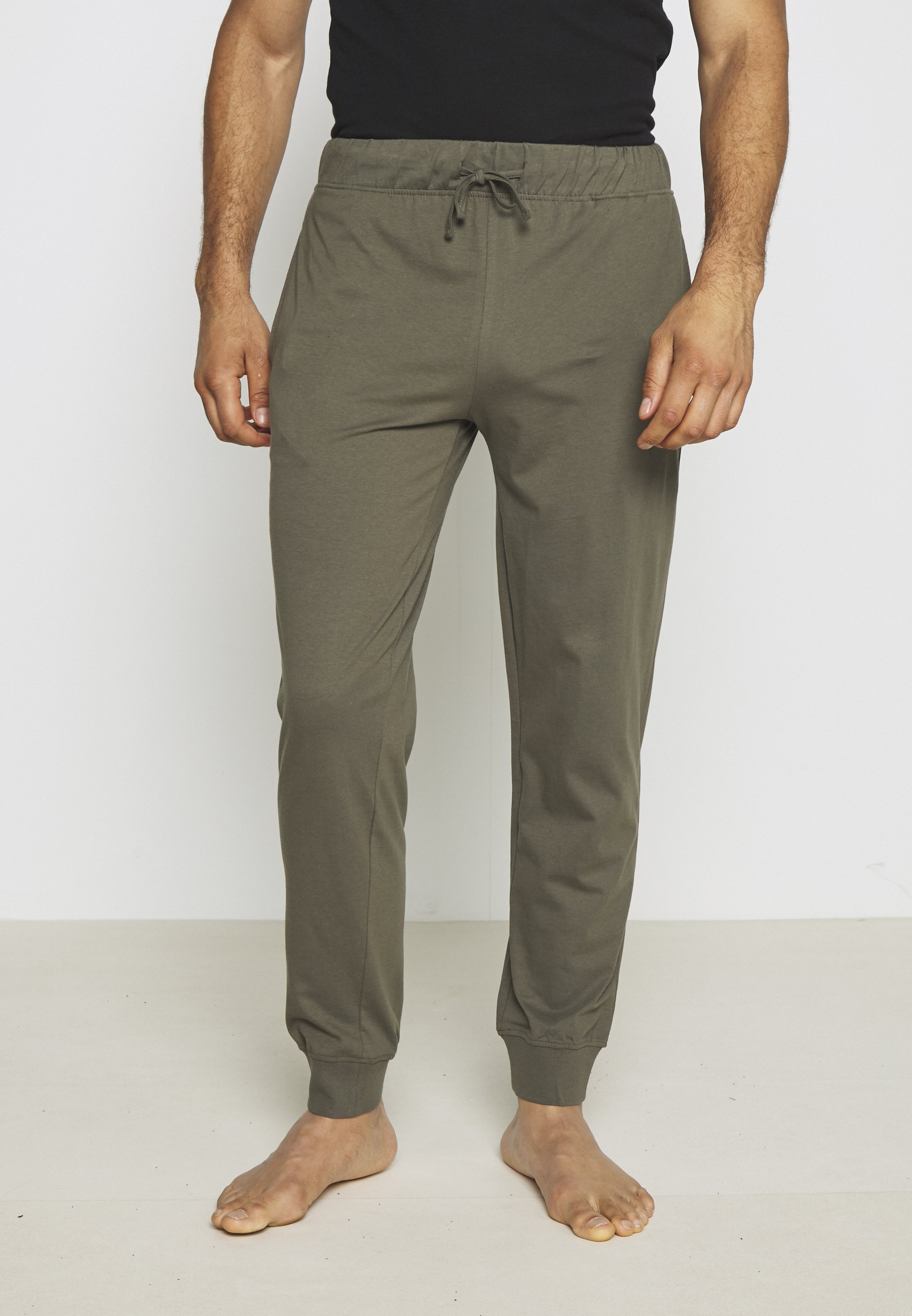 Pier One 2 Pack - Pyjamasbukse Black/khaki/svart