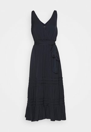 MICRO RUFFLE DRESS - Day dress - navy