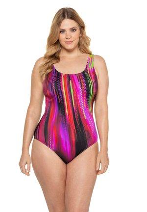 Swimsuit - mottled light pink