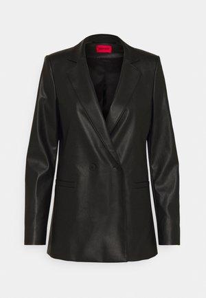 ARIESA - Short coat - black