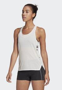 adidas Performance - AGRAVIC SINGLET PARLEY TANK TRAIL RUNNING - Sports shirt - white - 0