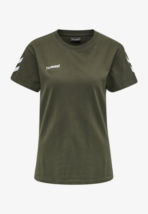 GO WOMAN - Print T-shirt - grape leaf