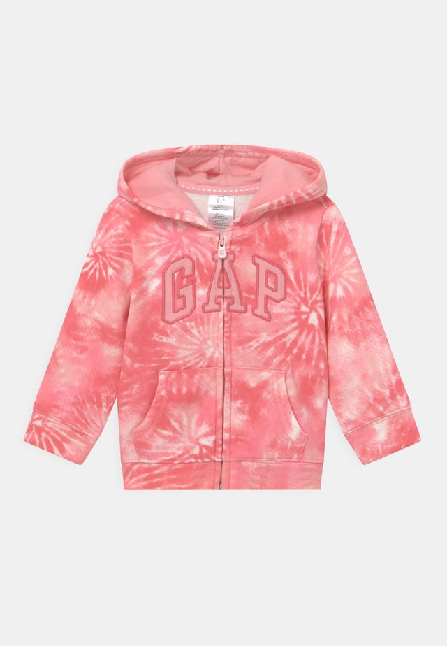 GIRL LOGO - veste en sweat zippée - pink