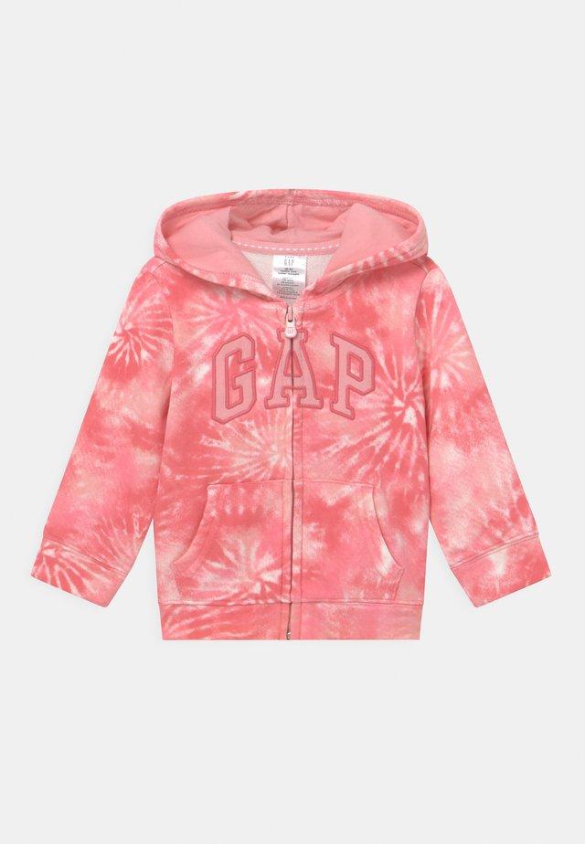GIRL LOGO - Zip-up hoodie - pink
