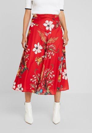 OEILLADE - Maxi skirt - red