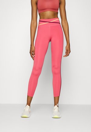 ONE 7/8 - Tights - archaeo pink/black