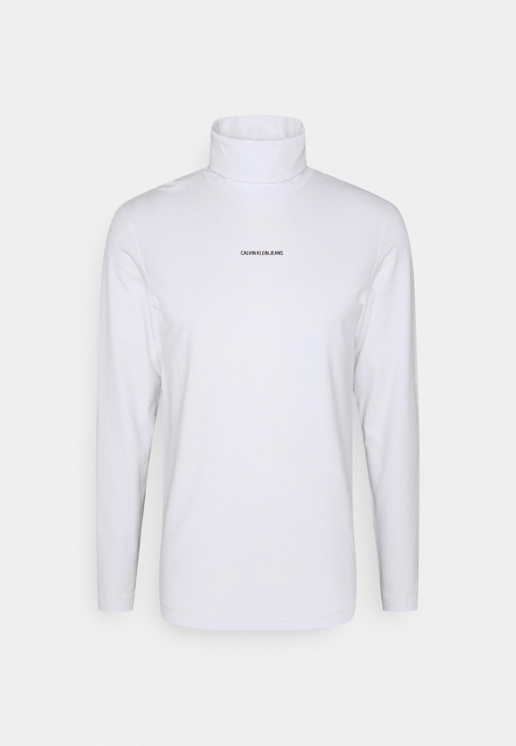 Men MICRO BRANDING ROLL NECK UNISEX - Long sleeved top