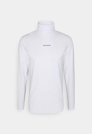 MICRO BRANDING ROLL NECK UNISEX - Long sleeved top - white