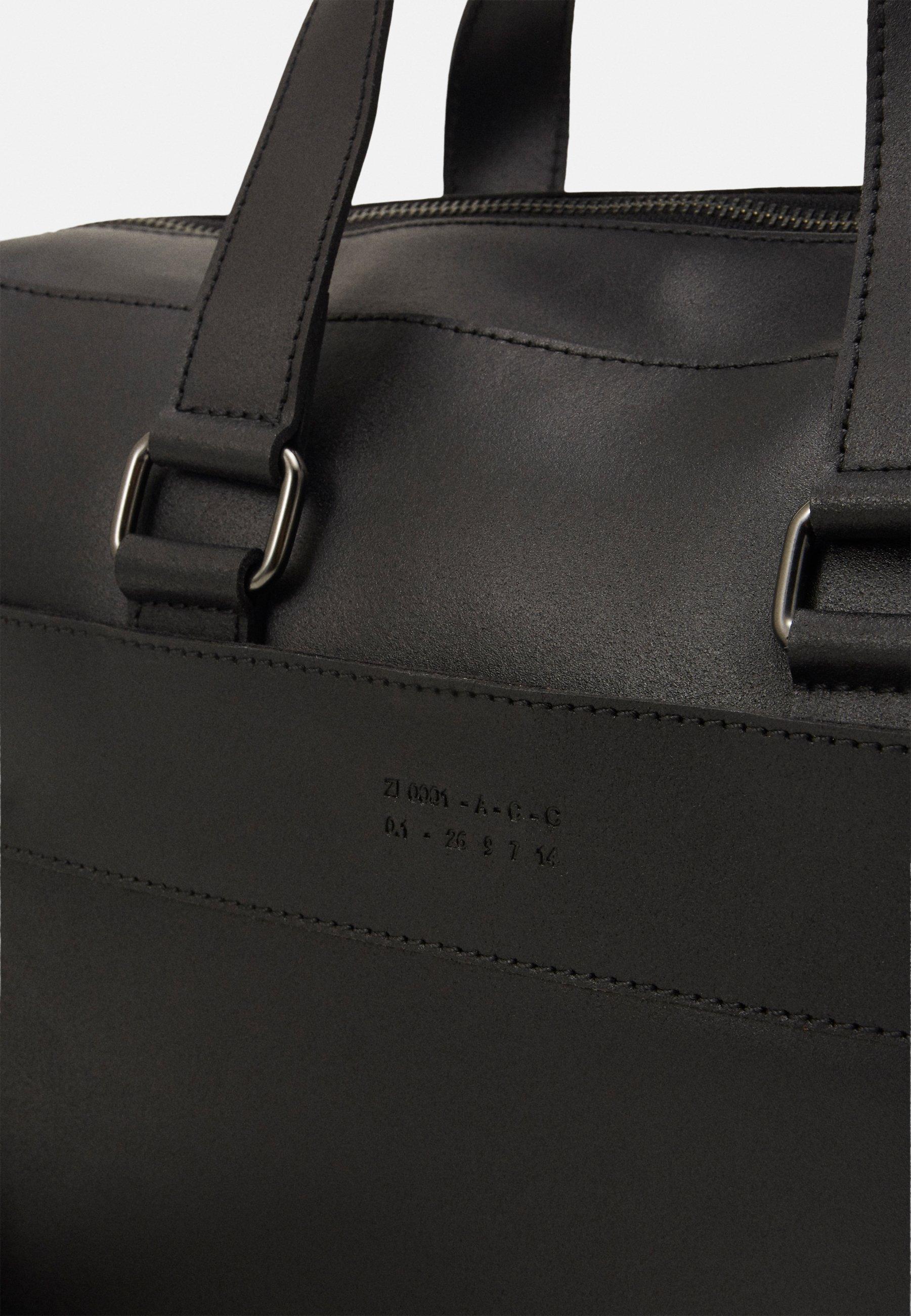 Zign LEATHER - Stresskoffert - black/svart PXW8yjSF65mXLT0