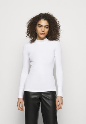 LOGO MOCK NECK - Jumper - off white