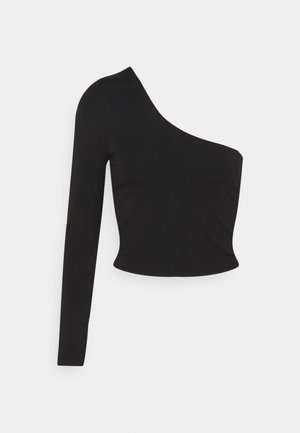 EVERYDAY ONE SHOULDER LONG SLEEVE - Long sleeved top - black