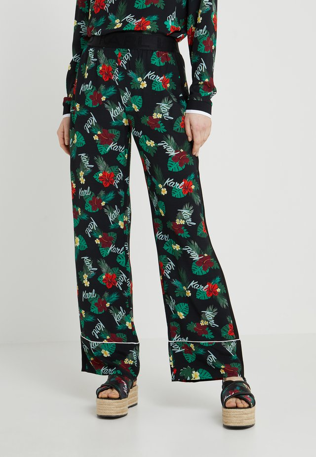 HAWAII LOGO PANTS - Broek - black