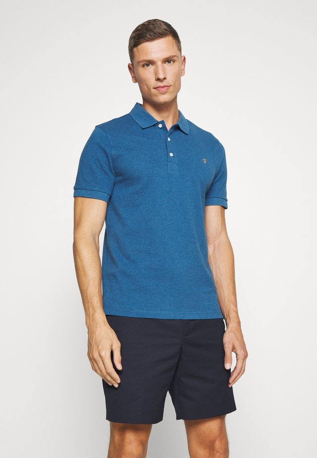 BLANES  - Polo - blue grape marl