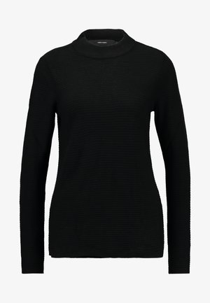 VMBOBBIE LS HIGHNECK BLOUSE COLOR - Jumper - black