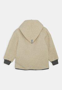 Finkid - TONTTU NALLE UNISEX - Fleece jacket - pebble/navy - 1