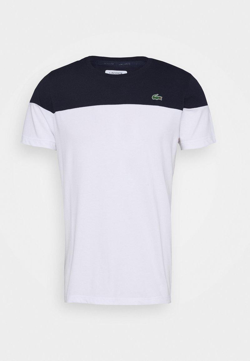 Lacoste Sport - BLOCK - Sports shirt - marine/blanc