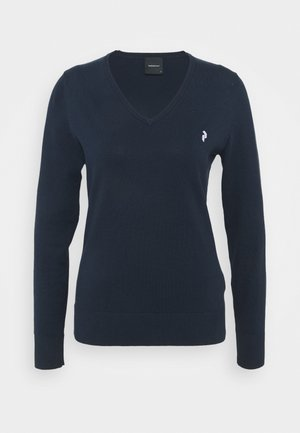 CLASSIC V NECK - Jumper - blue shadow