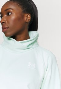 Under Armour - RIVAL WRAP NECK - Sweatshirt - seaglass blue - 3