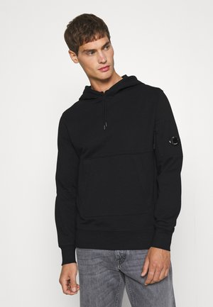 DIAGONAL RAISED HOODED - Sweatshirt - black