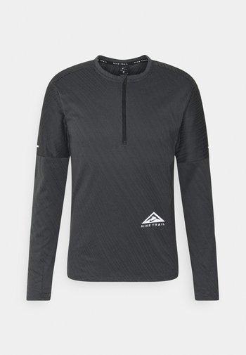 TRAIL - Sports shirt - black/dark smoke grey