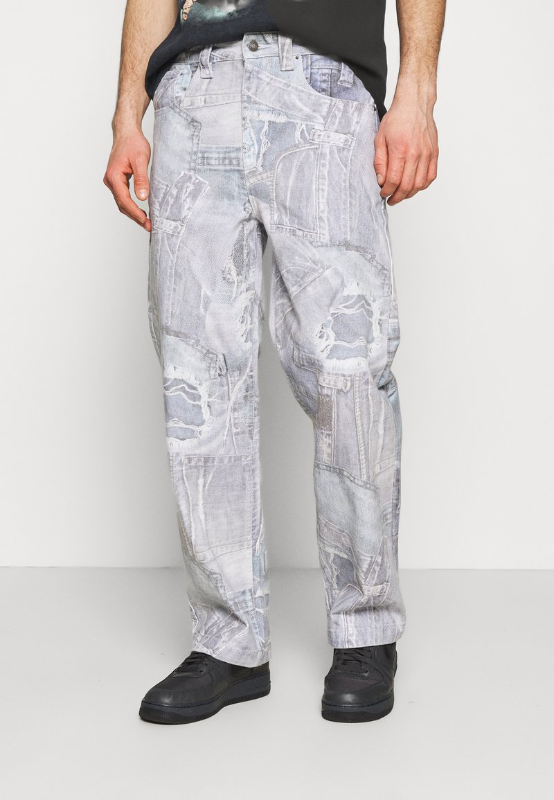 Jaded London - REALISTIC PRINT - Relaxed fit jeans - blue