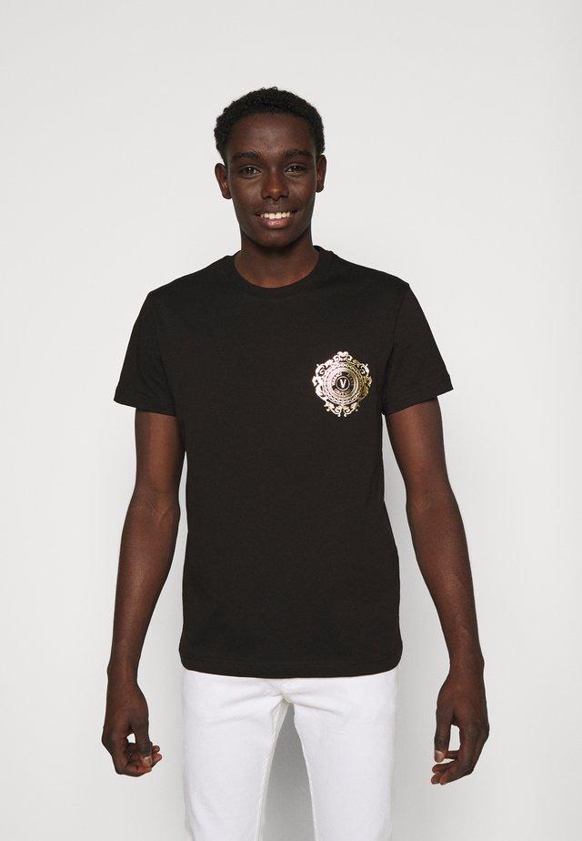 T-shirt med print - black / gold