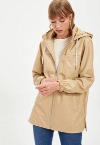 DeFacto - Waterproof jacket - beige - 4