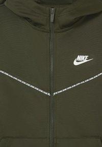Nike Sportswear - REPEAT HOODIE - Träningsjacka - cargo khaki/white - 2