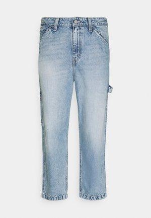 CARPENTER CROP - Jeans straight leg - dark indigo
