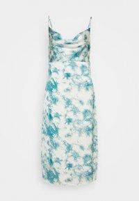Missguided Petite - CAMI COWL SLIP MIDI DRESS TIE DYE - Denní šaty - blue - 0