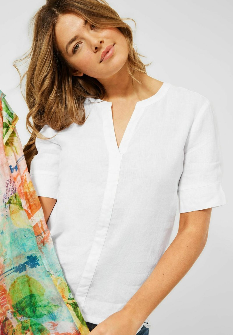 Cecil - IN UNIFARBE - Blouse - weiß