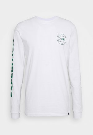 DOUBLE SLEEVE GRAPHIC TEE - Maglietta a manica lunga - white/evergreen