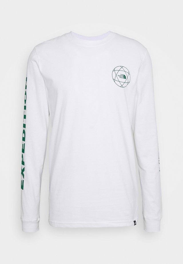 DOUBLE SLEEVE GRAPHIC TEE - T-shirt à manches longues - white/evergreen