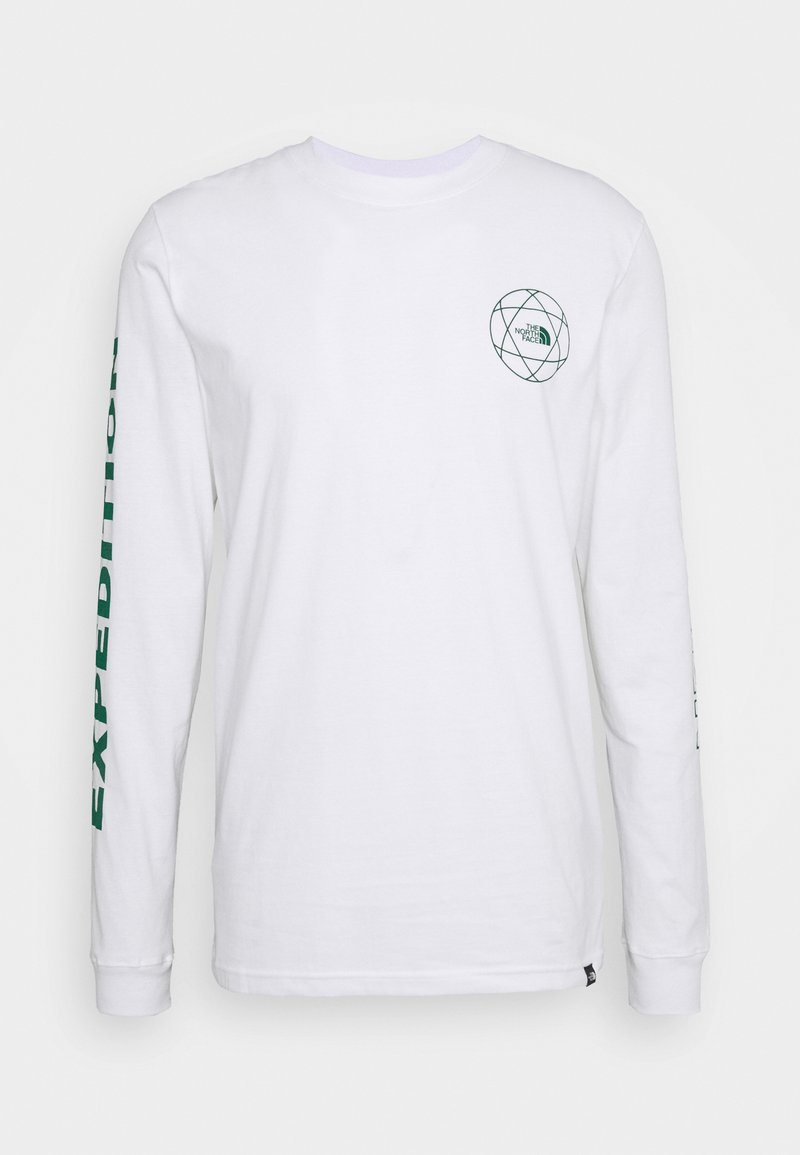 The North Face - DOUBLE SLEEVE GRAPHIC TEE - Long sleeved top - white/evergreen