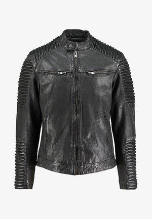 BEBAKER - Leren jas - black
