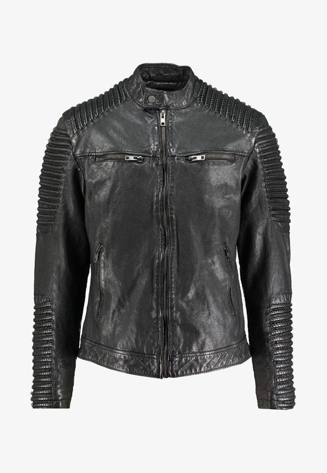 BEBAKER - Veste en cuir - black