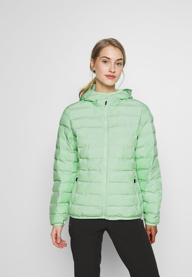 WOMAN JACKET FIX HOOD - Outdoorová bunda - leaf