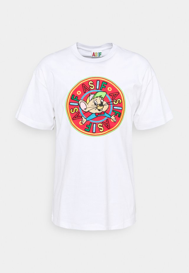 RIZZO TEE UNISEX - T-shirt med print - white