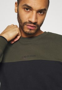 Calvin Klein - COLOR BLOCK - Sweatshirt - green - 5