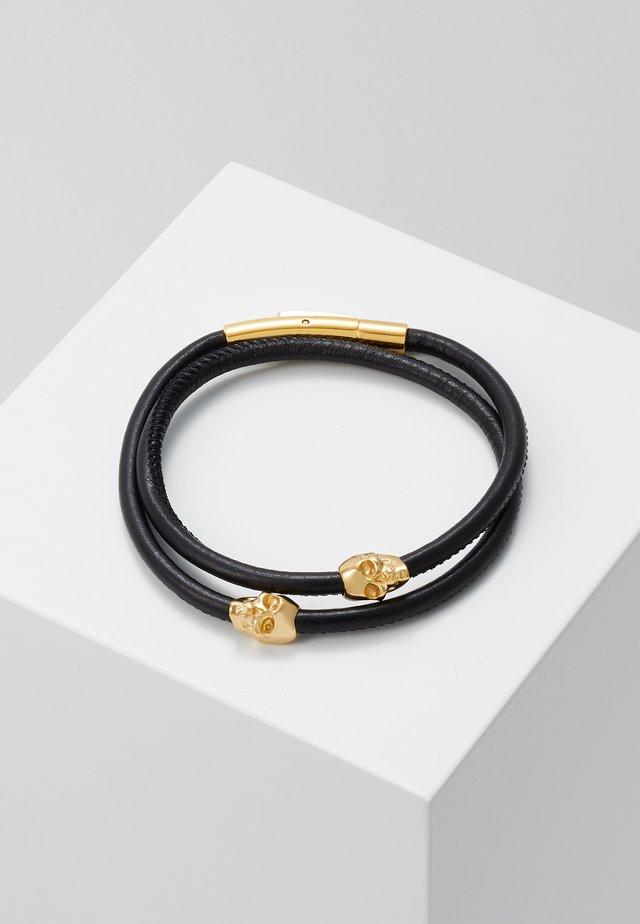 MICRO ATTICUS DOUBLE WRAP - Armband - black/gold-coloured