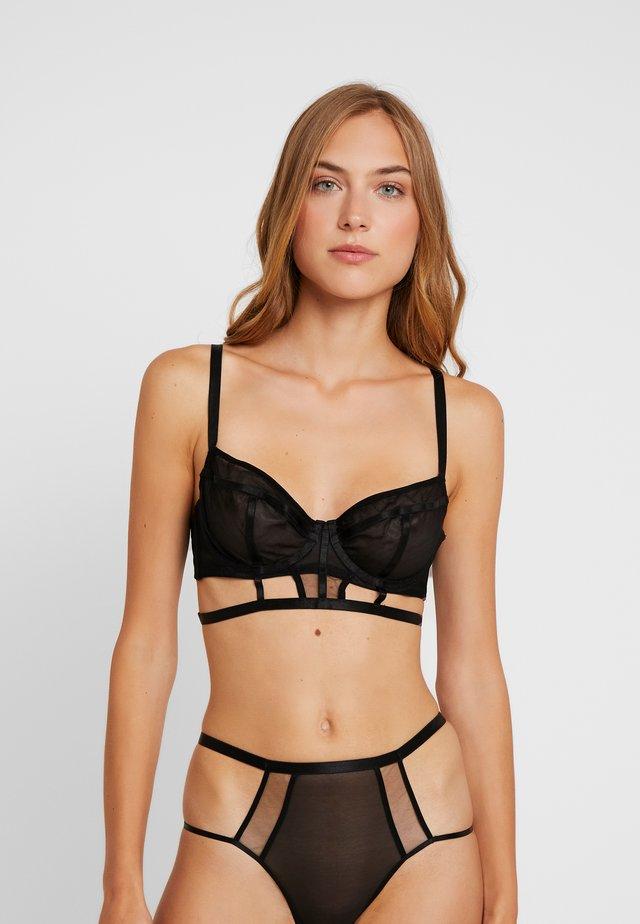 JADE PANELLED LONGLINE BRA - Underwired bra - black